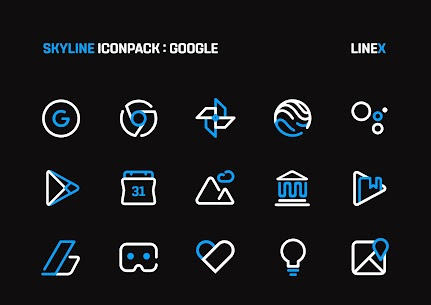 SkyLine Icon Pack : LineX Blue Edition v2.8 [Patched] 4