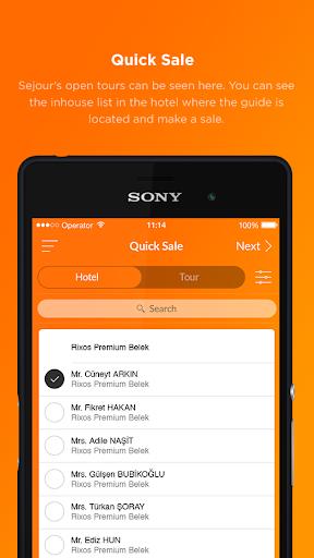 sejour mobile screenshot 1