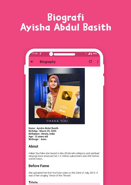 Ayisha Abdul Basith Song Full Album Offline screenshot 7