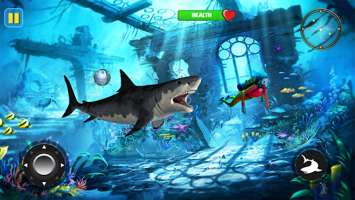 angry shark attack - wild shark game screenshot 1