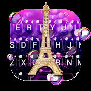 Romantic Paris Night Keyboard Theme