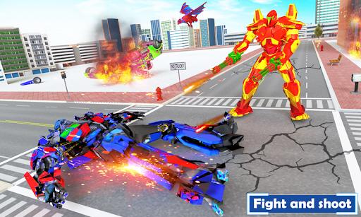 Flying Dragon Transport Truck Transform Robot Game apklade screenshots 1