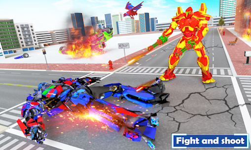 Flying Dragon Transport Truck Transform Robot Game 1