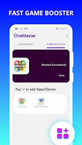 Game Booster for Android, Lag fix 60fps, OneMaster 1.9.31