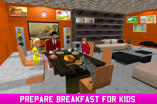 Virtual Single Dad Simulator: Happy Father apkpoly screenshots 2