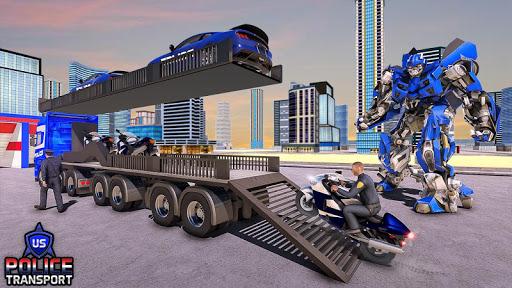 US Police Robot Transform - Police Plane Transport  screenshots 2