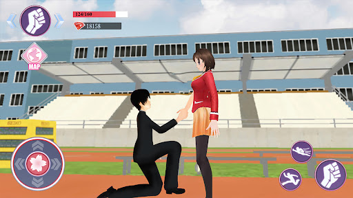 Sakura Anime School Girl Simulator apktreat screenshots 2