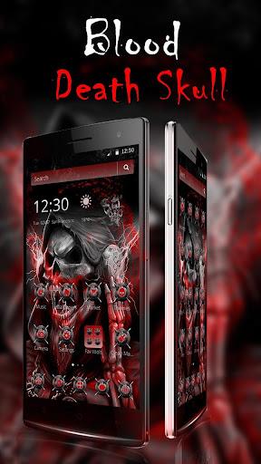blood death skull theme screenshot 3