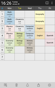 Timetable planner - for school and university Screenshot