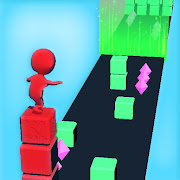 Stack tower colors 3d-Tower rush cube run surfer