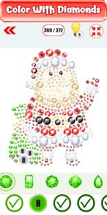 Christmas Diamond Painting : Tap Diamond Coloring