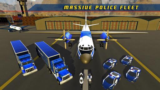 Police Plane Transporter Game  screenshots 12