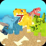 Blocky Dino Park: Dinosaur Arena