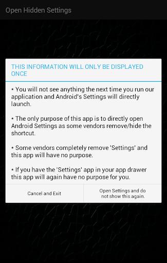 Open Settings (shortcut to settings) 1.2 Screenshots 1