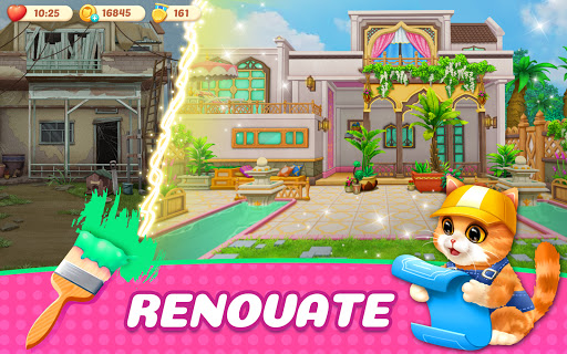 Kitten Match-Mansion & Pet Makeover  screenshots 3