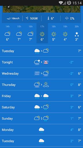 KMI - IRM: .be Weather 2.8.8 Screenshots 2