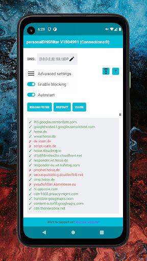 personalDNSfilter - block tracking, malware & more android2mod screenshots 1