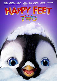"""alt=""""The sequel to """"Happy Feet,"""" the Academy Award®-winning animated smash hit, """"Happy Feet Two"""" returns audiences to the magnificent landscape of Antarctica. Mumble, The Master of Tap, has a problem because his tiny son, Erik, is choreo-phobic. Reluctant to dance, Erik runs away and encounters The Mighty Sven—a penguin who can fly! Mumble has no hope of competing with this charismatic new role model. But things get worse when the world is shaken by powerful forces. Erik learns of his father's guts and grit as Mumble brings together the penguin nations and all manner of fabulous creatures—from tiny Krill to giant Elephant Seals—to put things right. MPAA Rating: PG © 2011 Village Roadshow Mumble 2 Productions Pty Ltd.     CAST AND CREDITS  Actors Elijah Wood, Robin Williams, Hank Azaria, Alecia Moore (P!Nk), Brad Pitt, Matt Damon, Sofia Vergara, Common, Hugo Weaving, Richard Carter, Magda Szubanski, Anthony Lapaglia  Producers Doug Mitchell, George Miller, Bill Miller  Director George Miller  Writers George Miller, Gary Eck, Warren Coleman, Paul Livingston"""""""
