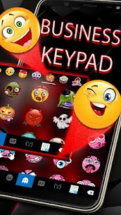Red Tech Keyboard Theme 4