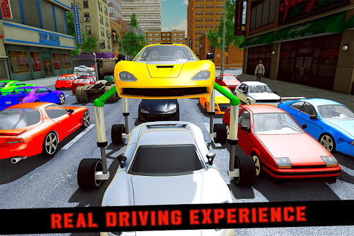 Elevated Car Racing Speed Driving Parking Game  screenshots 1