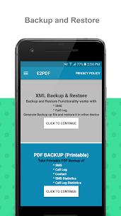E2PDF – Backup Restore SMS,Call,Contact,TrueCaller 1