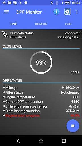 DPF Monitor for Fiat & Alfa Romeo  Screenshots 1