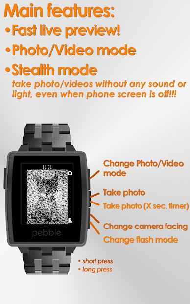 Camera for Pebble Android App Screenshot