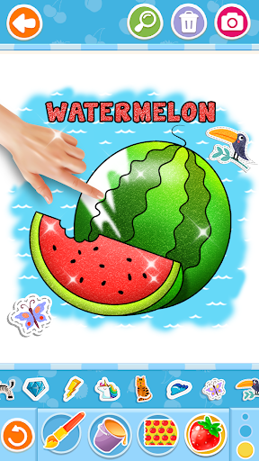Fruits and Vegetables Coloring Game for Kids  screenshots 3