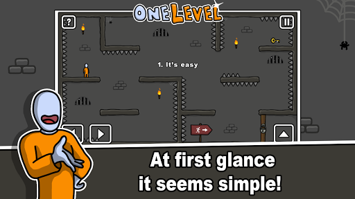 one level: stickman jailbreak screenshot 1