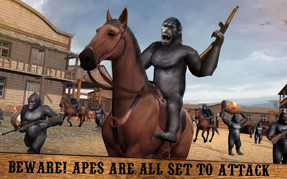 Screenshot 6 de Apes Age Vs Wild West Cowboy: Survival Game para android