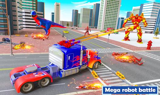 Flying Dragon Transport Truck Transform Robot Game 3