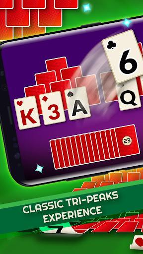 tripeaks - offline free solitaire games screenshot 1