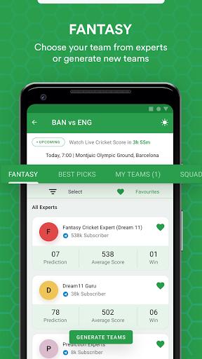 FanTips : Prediction Tips Experts for Dream11  screenshots 4