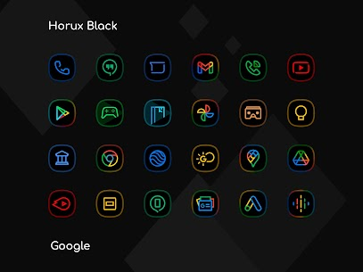 Horux Black APK- Icon Pack (PAID) Download Latest Version 2