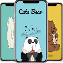 Cute Bear Cartoon Wallpaper