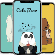 Cute Bear Cartoon Wallpaper