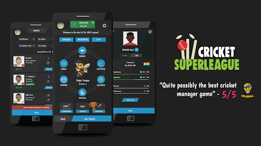 Wicket Cricket Manager - Super League 2021 apklade screenshots 1