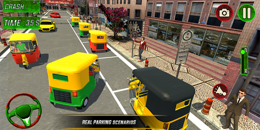 Tuk Tuk Auto Rickshaw Driver 2019:City Parking 1.5 screenshots 3