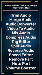 Music Editor: Trim, Cut, Merge, Convert to Mp3