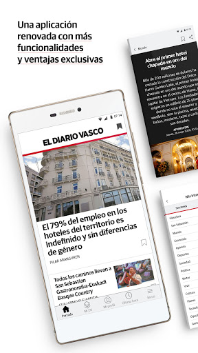 El Diario Vasco on+ Apk 7.0.0 screenshots 1