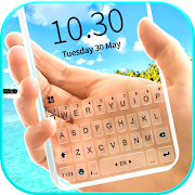 Tropical Transparent Keyboard Background
