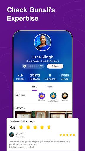 Guruji - Live Astrology, Horoscope, Kundli, Tarot apktram screenshots 5