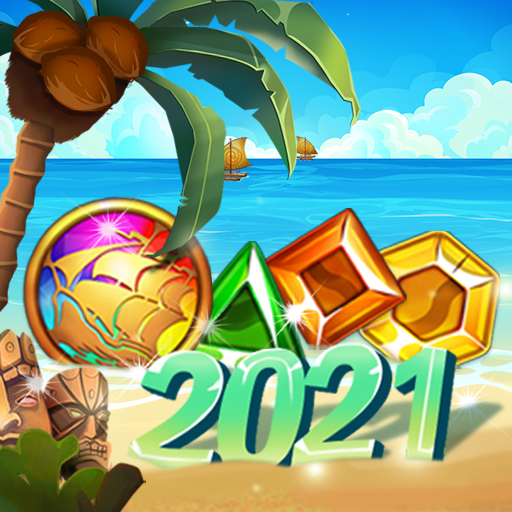 Island of Jewels: Aloha ! Match3 puzzle