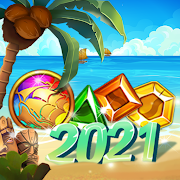 Island of Jewels: Aloha ! Match3 puzzle