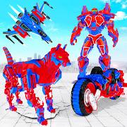 US Police Dog Robot Transform Bike Robot Games