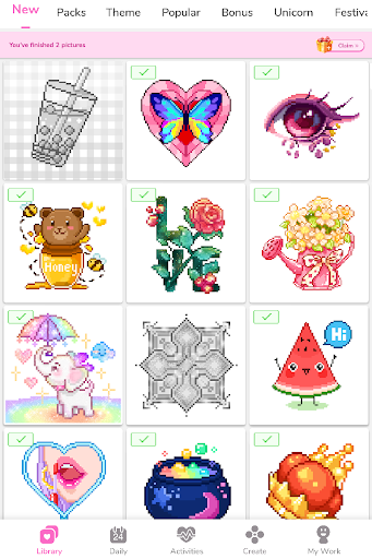 Paint by Number - Pixel Art, Free Coloring Book 3.39.2 Screenshots 14