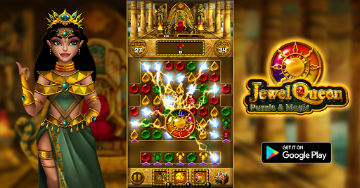 Jewel Queen: Puzzle & Magic - Match 3 Game  screenshots 16