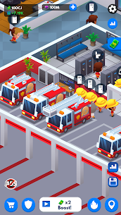 Idle Firefighter Tycoon Mod Apk- Fire Emergency Manager (Unlimited Money) 5