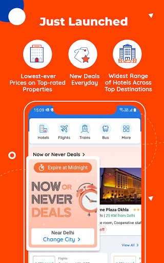 Goibibo Travel App-Hotel, Flight, IRCTC Train, Bus apktram screenshots 1