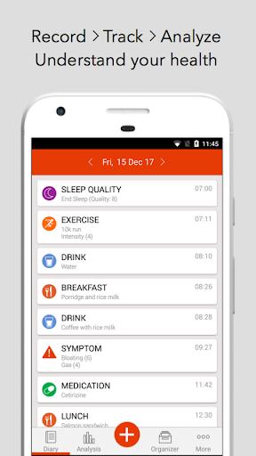 mySymptoms Food Diary & Symptom Tracker (Lite) screenshot 1